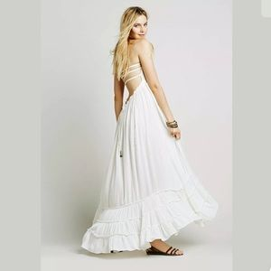 FREE PEOPLE  EXTRATROPICAL GAUZE MAXI DRESS